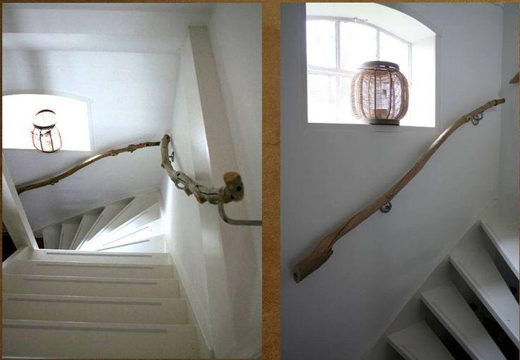 Bois flott en rampe d 39 escalier id es d co escaliers - Idee de rampe d escalier ...