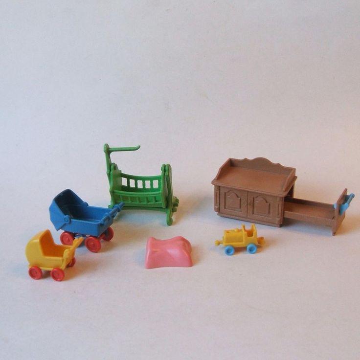 Playmobil Victorian Mansion Dollhouse 5311 Nursery Furniture Partial Vintage #PLAYMOBILGeobra