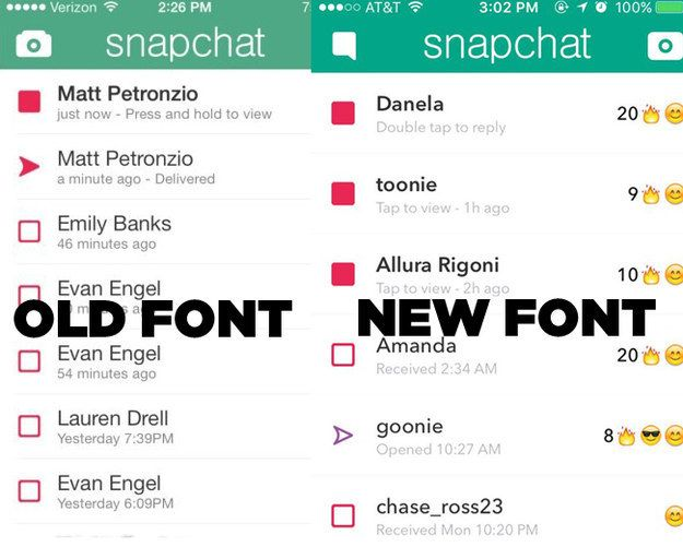 On Tuesday, Snapchat updated its iOS app with a brand spankin' new font. | Snapchat Just Changed Its Font And The Teens Are Panicking - BuzzFeed News