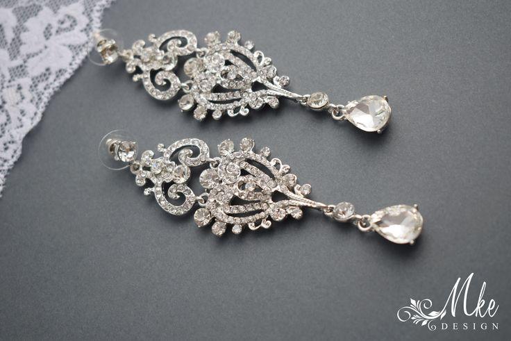 Wedding earring, Drop Dangle Earring, Wedding Earring, Vintage Long Earring, Bridal Earring, Chandelier Earring  https://www.etsy.com/listing/518921411/wedding-earring-drop-dangle-earring?ref=shop_home_active_7