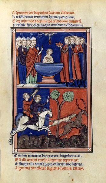 Baptism of Clovis - Invasions barbares — Wikipédia