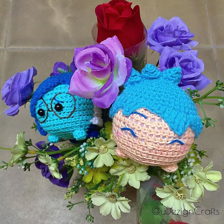 udezigncrafts:: How are you today? Do you feel joy or sadness ? #insideout #joy #sadness #tsumtsum #disney #pixar #expression #udezign #speciallydesignforyou #handmade #handicrafts #diy #crochet #amigurumi #boneka #rajutan #emotions