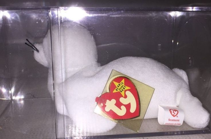 SEAMORE -  White Seal Beanie Baby Plush - TY - VERY RARE with 9 ERRORS - 1993 #Ty