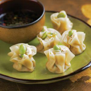 pork dumplings with orange soy dipping sauce ginger and pork dumplings ...