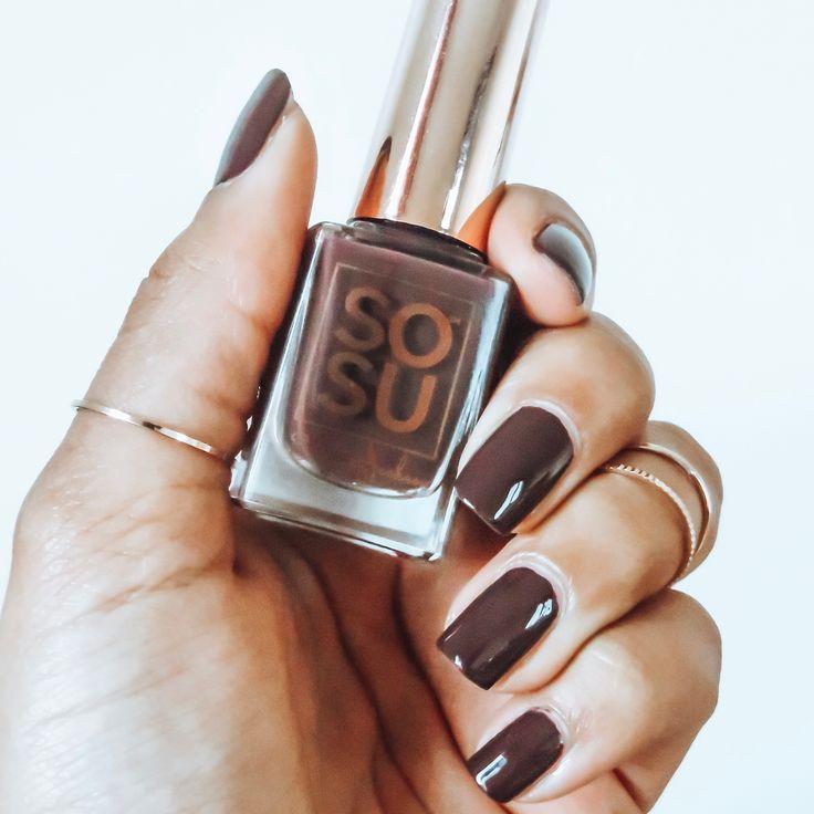 Death by chocolate nail polish - Sosu By Suzanne Jackson Instagram @lafilledailleurs