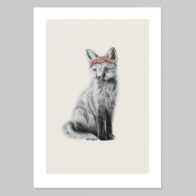 Fox Art Print by Olivia Bezett - Art Prints NZ Art Prints, Design Prints, Posters & NZ Design Gifts | endemicworld