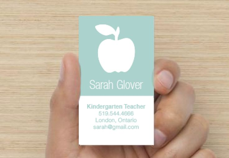 Teacher Business Card - Modern                                                                                                                                                      Más
