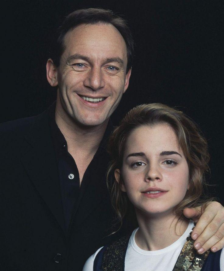 Jason Isaacs and Emma Watson