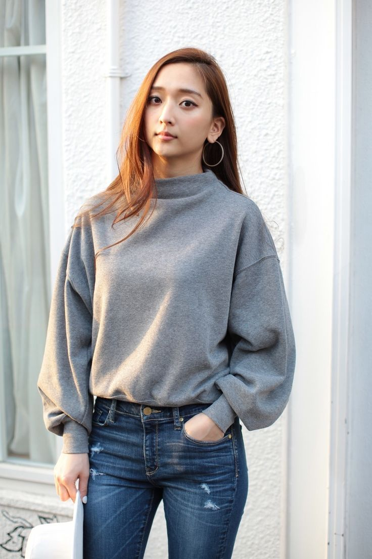 《WEB限定価格》【AZUL by moussy】裏毛裏起毛ボトルネック長袖プルオーバー