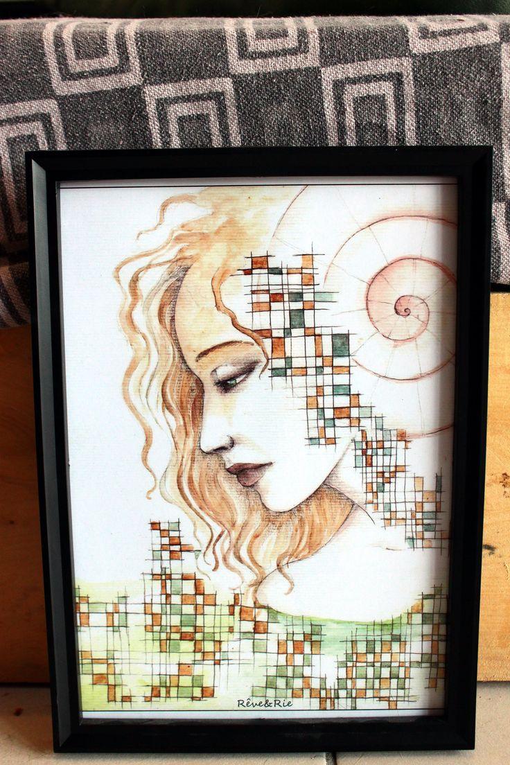 Voici ce que je viens d'ajouter dans ma boutique #etsy : REPRODUCTION d'art, Impression sur papier format A4, cadeau art déco, Romantic/Romantique : Portrait à l'aquarelle et au crayon gris http://etsy.me/2oLauG6 #art #illustration #aquarelle #portrait #peinture #repro