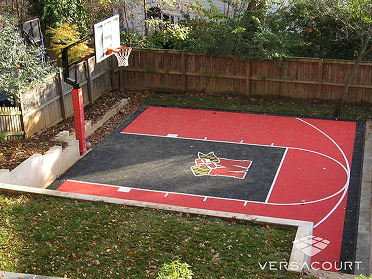 25 best backyard basketball court ideas on pinterest for Small basketball court