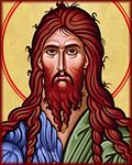 How an Icon is Painted, Follow the creation of Monastery Icons' image of Saint John the Baptist step by step, with description and photos.