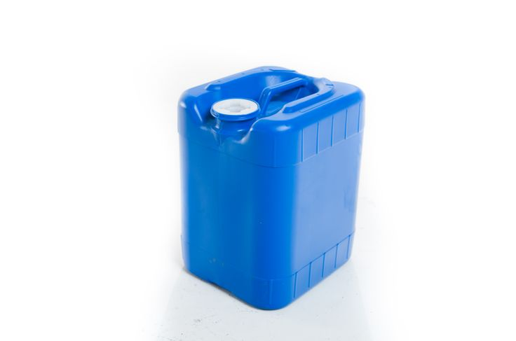 New 5 Gal. Poly Tight Head UN Rated.  Great for water storage on the road or at home. www.containerbuyers.com 1-877-959-6800