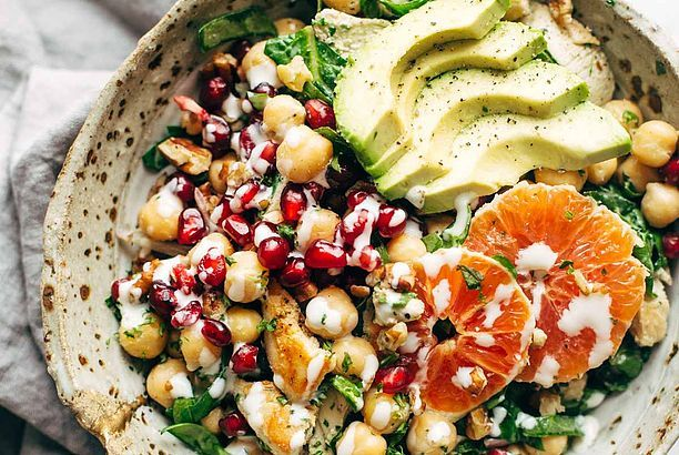 Winter Spa Salad with Lemon Chicken