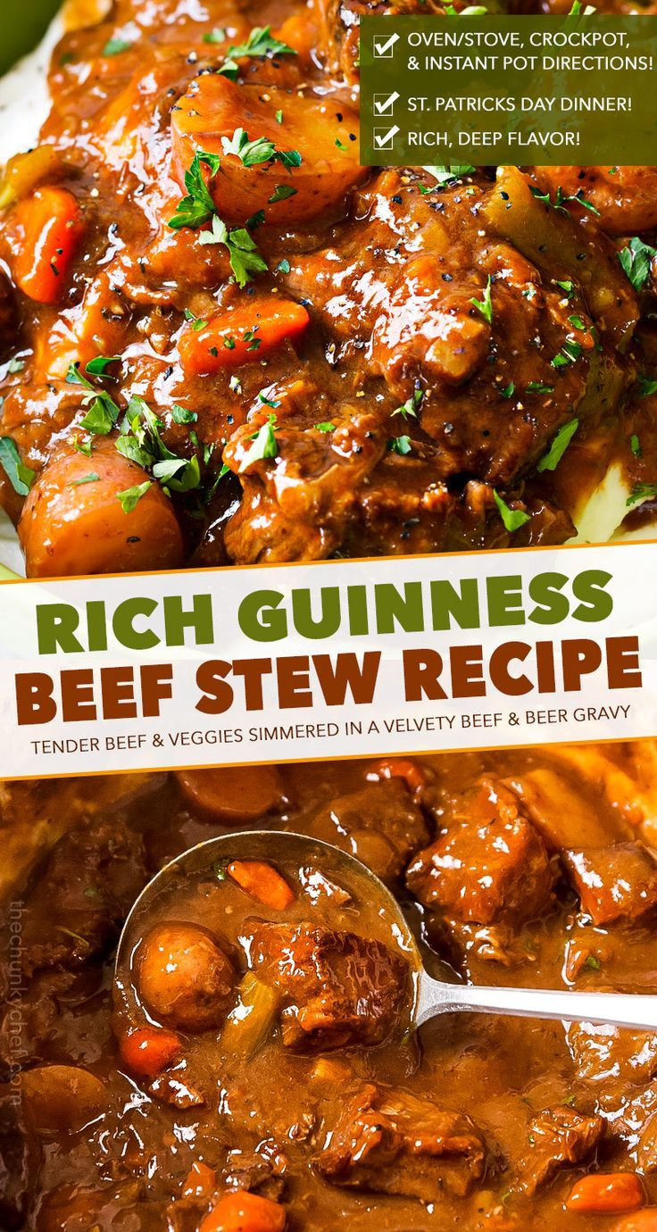 Irish Beef Stew With Guinness And Coffee The Chunky Chef Beef Stew Recipe Irish Beef Stew Rich Beef Stew