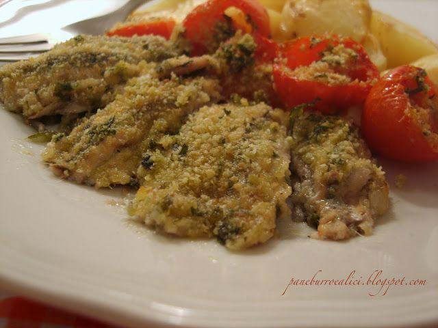 Pane, burro e alici: Alici fresche gratinate al forno ripiene di mozzar...