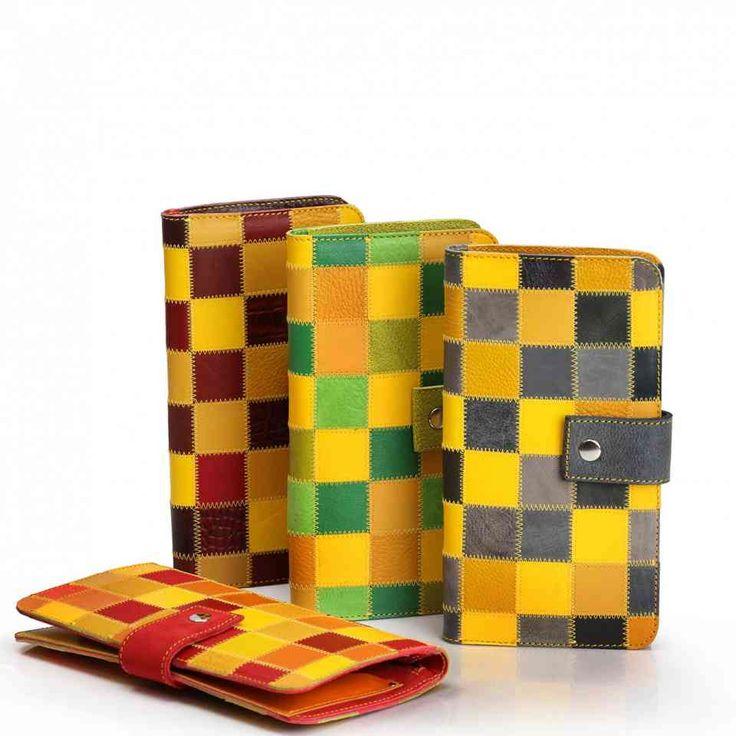 Холдер из натуральной кожи в технике пэчворк разноцветный | Леонид Титов | Сделано в СПб
