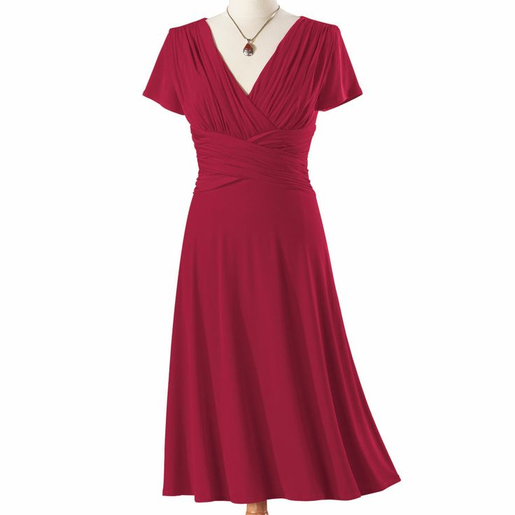 Red Ruched Waist Dress -NorthStyleClothes'S Fashion, Adult Clothing, Fashion Chic, Dresses 69 95, Fashion Accessories, Dresses Skirts, Dresses Simple, Clothing Inspiration, Dresses Northstyle