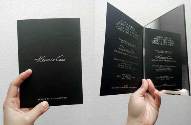 A Look at the Best New York Fashion Week Invitations of Spring 2014: Kenneth Cole