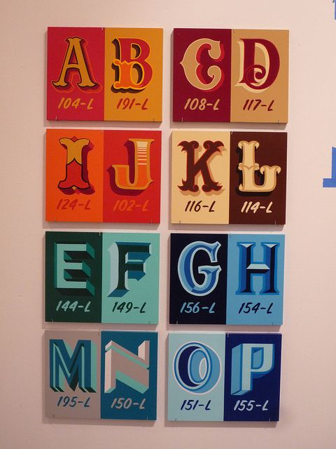 Josh Luke's alphabet by New Bohemia Signs