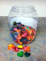 Crayon Rewards....I LOVE this idea!  Cheap AND re-purposing!