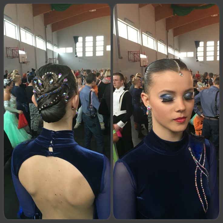 Dance look, hair nad make-up #dance #hair #bun #makeup
