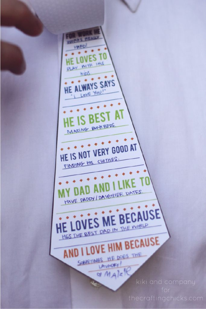 "free printable ""my dad is my hero"" tie card card... SO cute and perfect for Father's Day!"