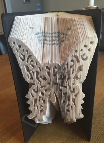 Mark, Cut & Fold pattern to make this wonderful piece of Book Art.  INSTANT DOWNLOAD