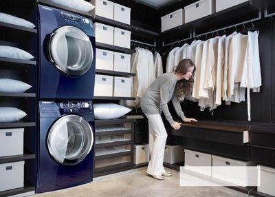 I have always wanted the washer and dryer in my closet, along with a garment steamer and a folding table.