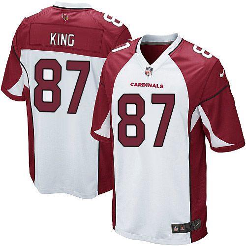 youth nike arizona cardinals 87 jeff king elite white nfl jersey sale .