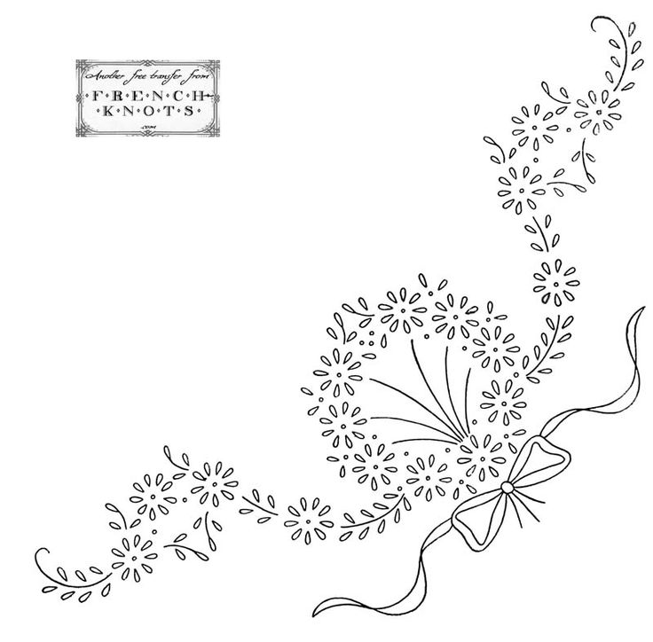 free Hearts and Flowers Embroidery Transfer Patterns