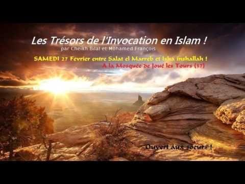 """""""Les Trésors de l'invocation"""" audio du frère Mohamed François et   cheikh ...Conférence du frère Mohamed François et du frère Cheikh Bilal sur le thème :""""Les Trésors de l'invocation"""" . (icm37.fr).  + info association ICM37 sur la page FACEBOOK , site internet et Twitter:  facebook.com/ICM37.FR  icm37.fr  @ICM37300  BARAK ALLAHOU FIKOUM..... Catégorie Éducation"""