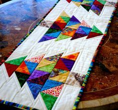 Christmas Quilt Table Runner Table Topper Christmas by CinfulArt