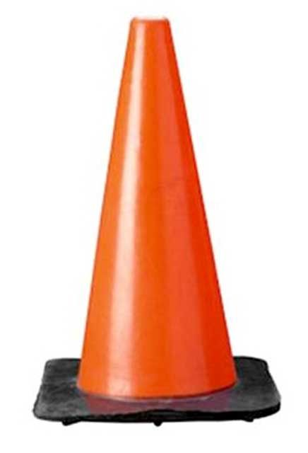 Traffic cone: Orange cone signs