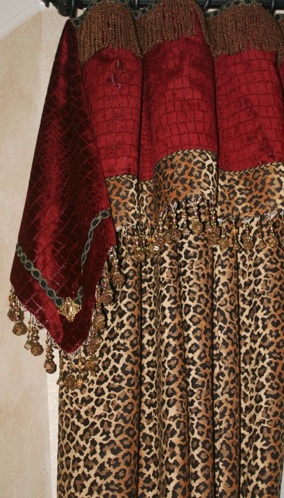 17 best images about leopard print bathroom ideas on for High end curtains and window treatments