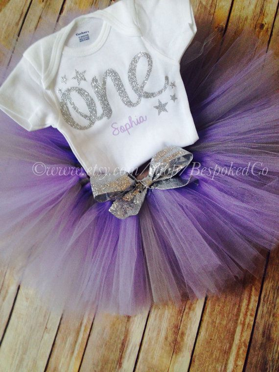 Purple First Birthday Outfit Twinkle Twinkle Little by BespokedCo