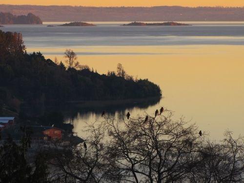 vista desde isla huapi