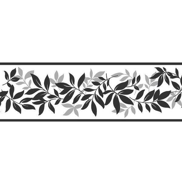 16 3 X 4 9 Leaf Trail Peel And Stick Border Wallpaper Wallpaper Border Wall Borders Wallpaper