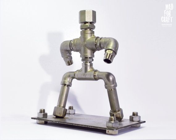 Inox Figure Industrial Style Decorative Inox Item by MadForCraftGR
