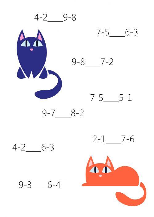 Comparison for 1st Grade #10  #Math #Firstgrade #comparison #printable #Free