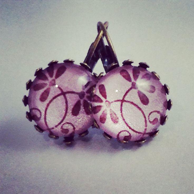 Romantic daisies ( blush) earrings