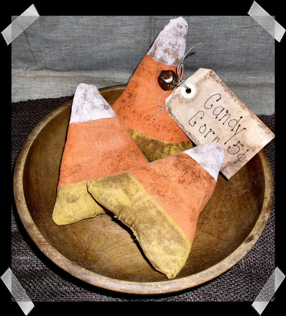 Primitive Fall Halloween Candy Corn by FromTheFarmPrims on Etsy, $7.99