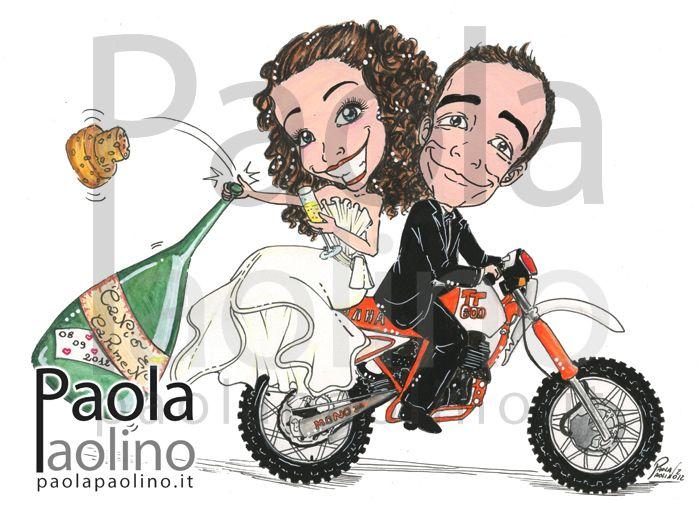 Matrimonio Tema Moto : Oltre fantastiche idee su illustrazione matrimonio