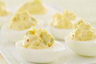 Herbed Stuffed Eggs... So Yummy!  #kraftrecipes