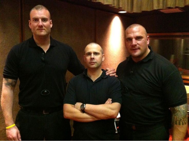 Two of the people in this picture are security on The Jeremy Kyle Show, the other is in charge of tissues.  (Dan, Will & Steve)