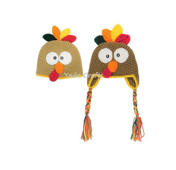 Crochet turkey hat/baby turkey hat/Thanksgiving hat/Turkey