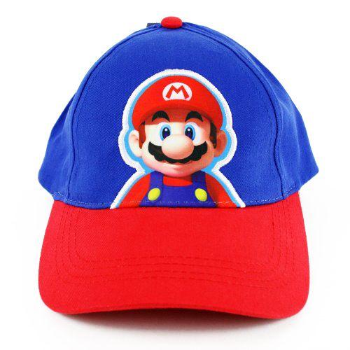 Super Mario Bros. Mario Boys Kids Youth Baseball Cap Hat- Navy/ Red, $8.99