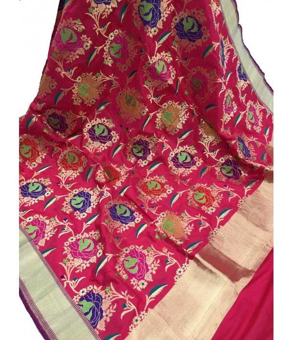 Red Handloom Banarasi Katan Silk Dupatta------ For details of this dupatta click on this link ---- http://luxurionworld.com/Dupatta_for_women/LWBDMS301_Red_Handloom_Banarasi_Pure_Katan_Silk_Dupatta.html