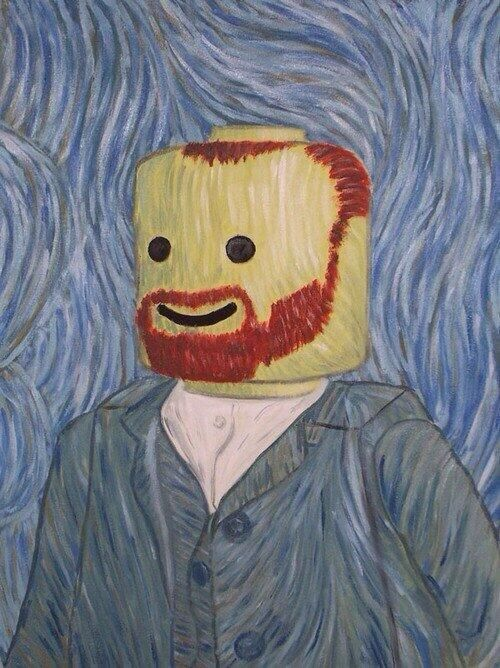 Le Gogh - This would be great idea for boys to paint. their Lego figure as VanGogh