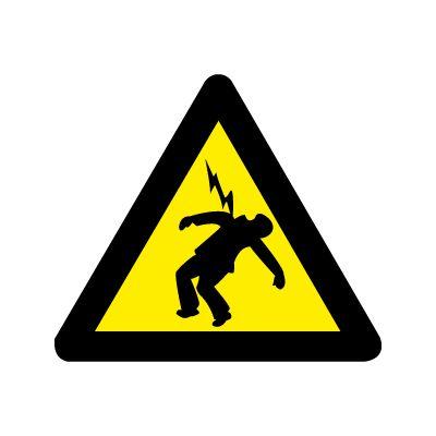 Fare for elektrisk spænding - Køb Advarselsskilte nu